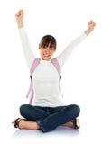 Excited азиатская студентка Стоковое Изображение RF