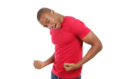 Excited african american man Stock Image