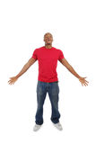 Excited african american man Royalty Free Stock Photo