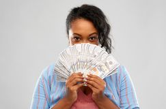 Free Excited African American Woman With Dollar Money Stock Photo - 145606030