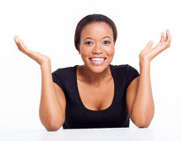 Excited african businesswoman Stock Images