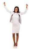 Excited african businesswoman Stock Photography