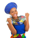 Excited african girl Stock Photo