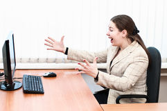 Excited appearance woman Stock Photography