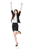 Excited Asian business woman Royalty Free Stock Images
