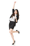 Excited Asian business woman Royalty Free Stock Photos