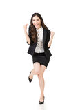 Excited Asian business woman Stock Image