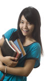 Excited Asian student Royalty Free Stock Photo