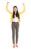 Excited Asian woman Royalty Free Stock Photos