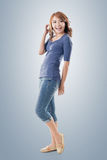 Excited Asian young girl Royalty Free Stock Images