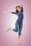 Excited Asian young girl Stock Images