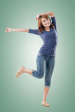 Excited Asian young girl Royalty Free Stock Image