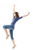 Excited Asian young girl Stock Image
