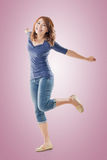 Excited Asian young girl Stock Photography