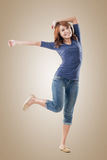 Excited Asian young girl Stock Photo