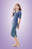 Excited Asian young girl Royalty Free Stock Photo