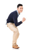 Excited Asian young man Royalty Free Stock Photography