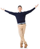 Excited Asian young man Stock Photography