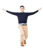 Excited Asian young man Royalty Free Stock Photo