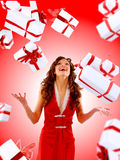 Excited attractive woman Royalty Free Stock Photos