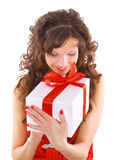 Excited attractive woman Royalty Free Stock Photography