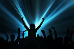 Excited audience Royalty Free Stock Image