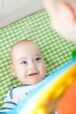 Excited baby boy Stock Photography