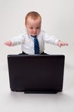 Excited baby businessman Royalty Free Stock Photo