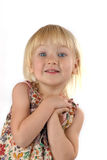 Excited beautiful girl royalty free stock photography