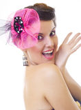Excited beautiful woman Royalty Free Stock Photo
