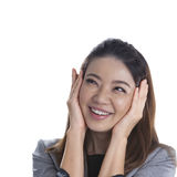 Excited beauty woman Royalty Free Stock Photography