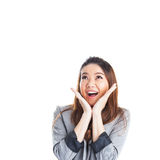 Excited beauty woman Royalty Free Stock Photo