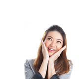 Excited beauty woman Stock Photography