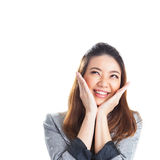 Excited beauty woman Stock Photo