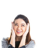 Excited beauty woman Stock Photos