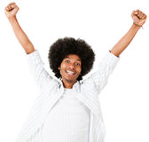 Excited black man Stock Photo