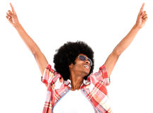 Excited black man Royalty Free Stock Photos