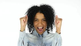 Excited Black Woman Celebrating His Success. High quality Stock Photos