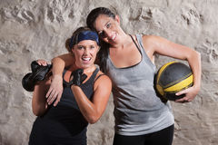 Excited Boot Camp Training Partners Stock Image