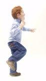 Excited boy stock photos