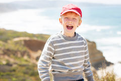 Excited boy Royalty Free Stock Image