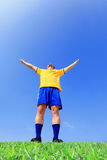 Excited brazil man Stock Photo