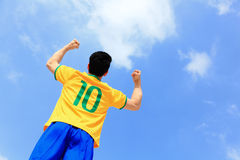Excited brazil man Royalty Free Stock Photos
