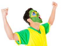 Excited Brazilian man Royalty Free Stock Images