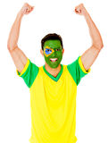Excited Brazilian man Stock Images