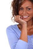 Excited brunette Royalty Free Stock Image