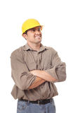 Excited builder Royalty Free Stock Photo