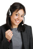 Excited business communications operator Royalty Free Stock Photography