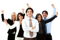 Excited business group Stock Photos