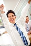 Excited business man Royalty Free Stock Image